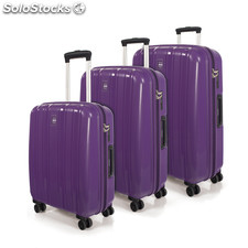 66800 set 3 trolleys polipropileno marca jaslen morado