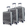 67100 set 3 trolley abs marchio dunlop Argento