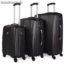 67400 set di 3 trolley abs Nero