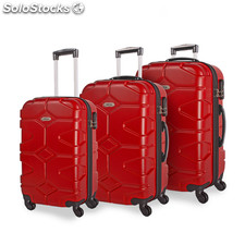 68100 set 3 chariots abs 50/60 / 70CM Rouge
