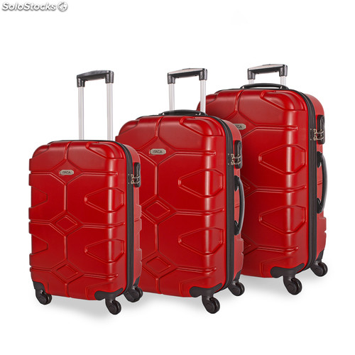 68100 set 3 trolley abs 50/60 / 70CM Rosso