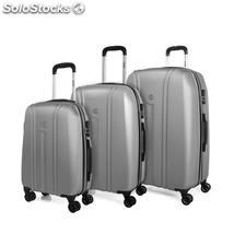 68200 set 3 trolley abs marca jaslen Argento