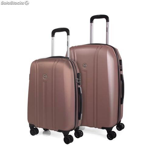 68215 set trolleys 2 abs marca jaslen rose gold
