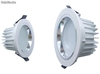 6inch led down light matt white & frosted lens, dimmable