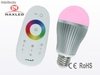 6w rgb color led globe bulb, with remote control, e27 - Foto 1