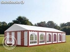 6x12m PVC Marquee / Party Tent w. Groundbar, red-white