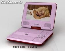 "7"" dvd portatil con LCD pandalla y TV , USB SD copia"