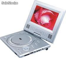 "7"" Dvd Portatil Con Tv Tunner Y Usb Pantalla Giratoria"