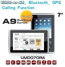 "7""mid/tablet pc built-in 3g/phone function/bluetooth/gps Wifi cpu nec renesas"
