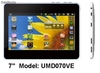 "7""mid/tablets/umd/pda Via vt8650@800MHz 256m/4gb Wifi webcam"