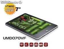 "7""mid/tablets umd umpc android2.2 vt8650@800MHz 512m/4gb webcam"