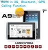 "7"" mid/tablets/umpc/umd Built-in 3g/gps/phone function/Bluetooth cpu CorteA9"