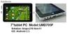 """7""""mid umd umpc tablets pc android2.3 ix210 1Ghz 256m 4g wifi appareil photo"""