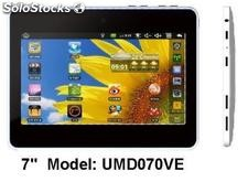 "7""tablets/mid umd android2.2 Via vt8650@800Mhz 256m/4gb schermo resistivo/webcam"