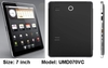 "7""Tablets/mid /umpc/umd android2.3 samsung cortex-a8@1GHz 512m/4gb capacitif"