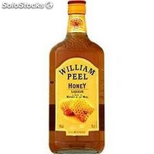 70CL whisky william peel honey 35°