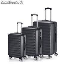 71200 set 3 trolleys extensible abs antracita