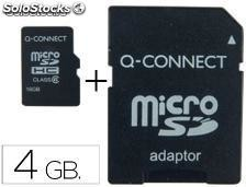 72647 Memoria sd micro q-connect flash 4 gb clase 4 con adaptador