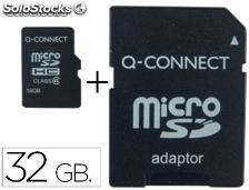 72650 Memoria sd micro q-connect flash 32 gb clase 6 con adaptador