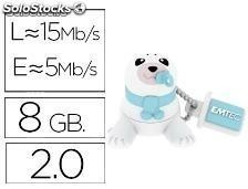 72656 Memoria usb emtec flash 8 gb 2.0 animals bebe foca