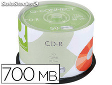 72681 Cd-r q-connect con superficie 100% imprimible para inkjet capacidad 700mb