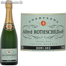 75CL champagne 1/2 sec alfred rothschild