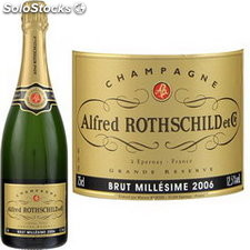 75CL champagne alfred rothschild 1990