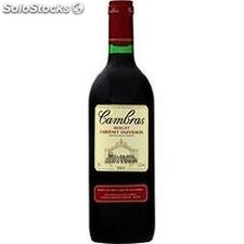 75CL vin de table rouge cabernet/sauvigon/merlot cambras