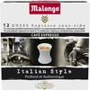 78G 12 doses cafe espresso itaien style malongo