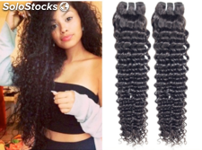 """7A Virgin Indian Deep Curly Hair Extension 4 Pcs Indian Virgin Hair Deep Curly"