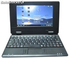 7pul mini Android netbook laptop umpc pc786 Android4.2 wm8880 512mb 4gb camara