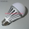 7w a19 led globe bulbs, e27 base, froted pc lens+aliminum housing