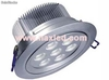 7x1W led down light, silvery aluminum
