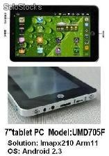 7zoll tablets pc mid umd android2.3 wm8650 800Mhz 256m 4g wifi kamera resistive