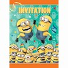 8 cartes invitation minion