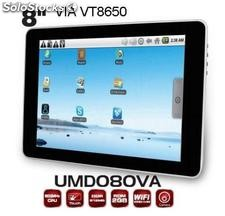 "8""mid/tablet pc/tablets/umd Via vt8650@800MHz 256m/4gb with Webcam android2.2"