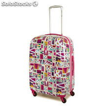 80460 trolley polycarbonate embouties moyennes marque mes. Fuchsia