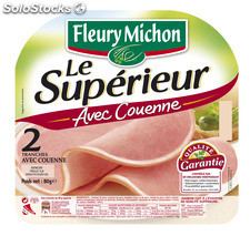 80G 2 tranches jambon le tradition ac fleury michon