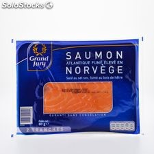 80G 2 tranches saumon fume label rouge norvge grand jury
