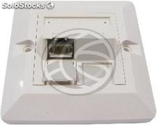 80x80 Wall Plate 1-RJ45 Cat.6 ftp (RI64)