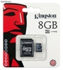 8gb Micro sd Karte, Kingston Marke mit Adapter. -