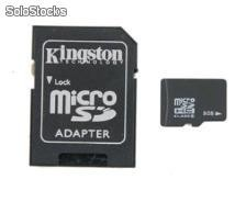 8gb Micro sd Kingston con adaptador sd