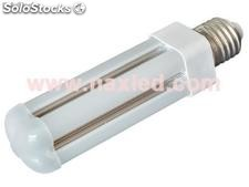 8w led corn light, g24/e27, 360 beam, frosted cover