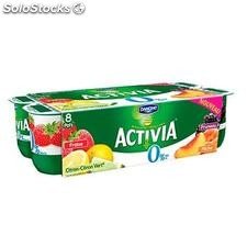 8X125G yaourt activia fruits rouges 0%