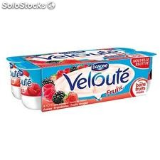 8X125G yaourt fruits rouges veloute fruix