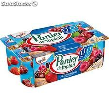8X125G yaourt panier fruits rouges 0% yoplait