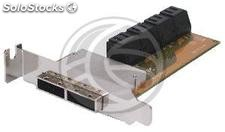 8xSATA2 Slot SAS Int-Ext to 2xMini sff-8088 (flex-atx) (AT92)
