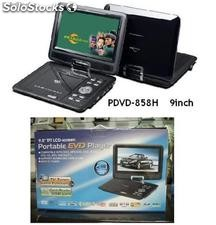 "9"" Dvd Portatil Con Tv Tunner Y Usb Pantalla Giratoria"