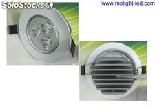 9 Watts (3*3w) Focos Downlight led Calido luz 3000k 900lm 30 ° / 45 ° / 60 °