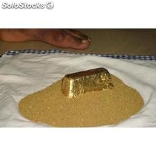 98,3% Purity Gold Dust & Bars For Sale